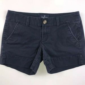 American Eagle Navy Blue Midi Shorts DP34